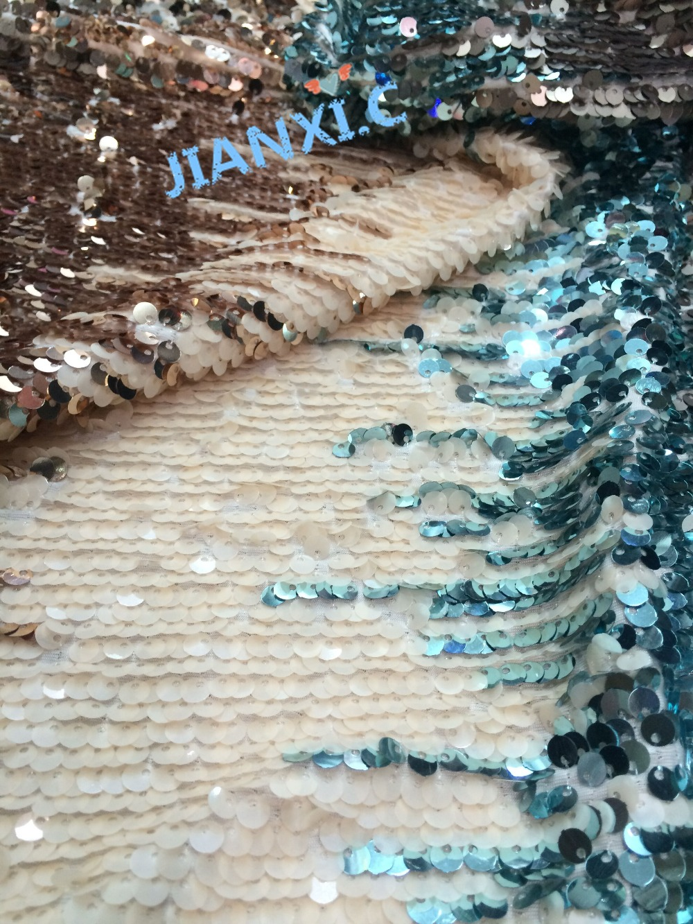 5yards piece David 62412 Newest French net Lace Fabric Mesh Fabric with sequins