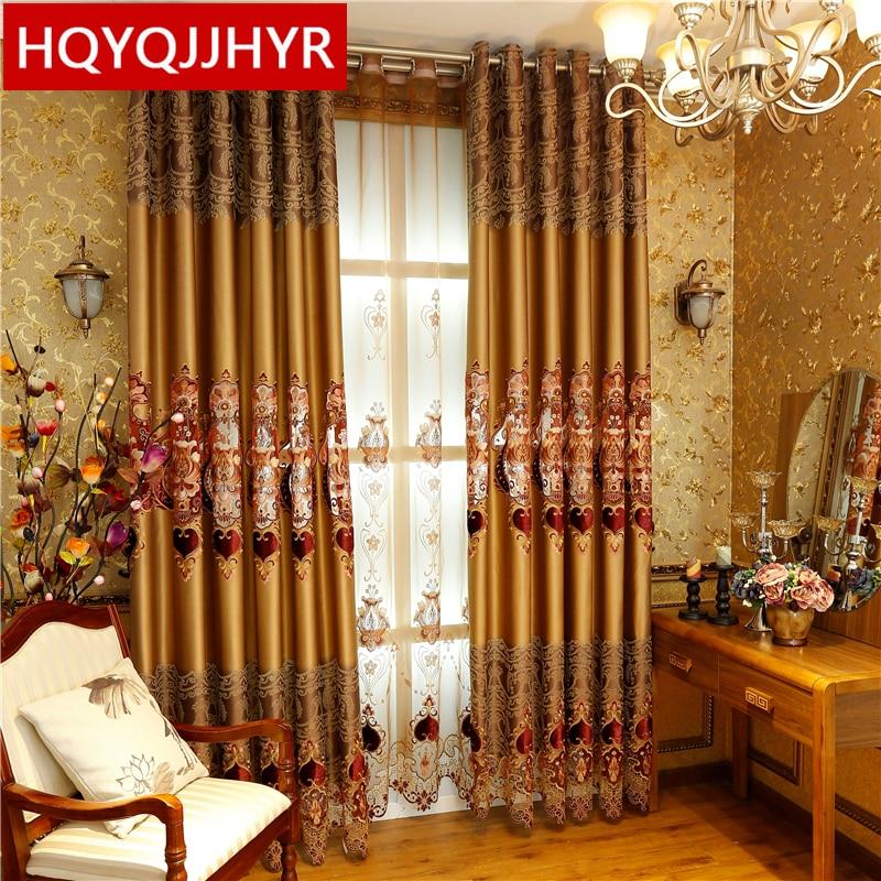 2016 Hot European Royal Luxury Blackout Curtains For Living Room Elegant Tull