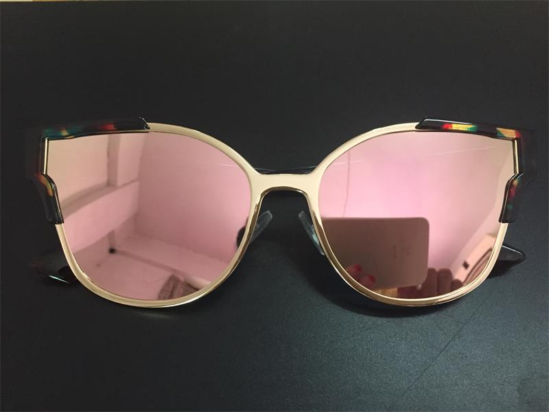 HTB147PtXxHBK1JjSZFkq6zg9VXa0 - Women Cat Eye Luxury Fashion Designer Mirror Sunglasses