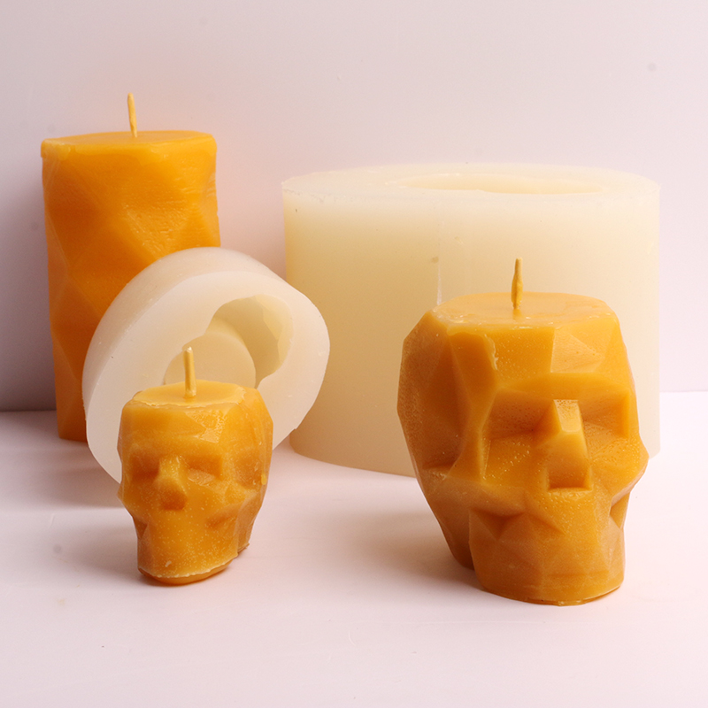 Skull Silicone Candle Mold 3D Geometric Candle Silicone Mold Skull Head Concrete Mould