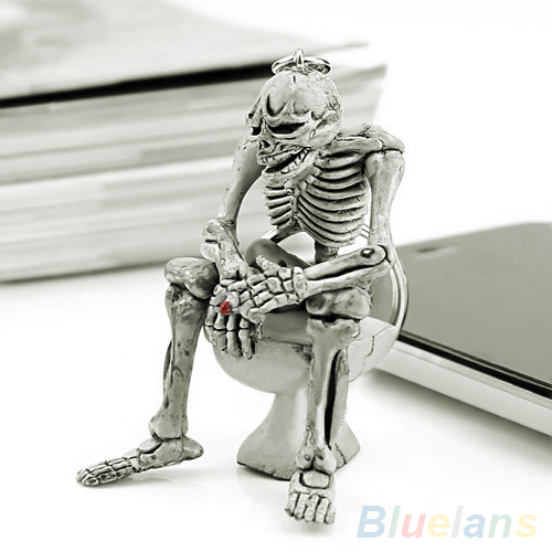 Bluelans Fashion Creative Skull Toilet Purse Bag Rubber Keychain Gift Keyring Key Chain kimio brand fashion luxury ceramics women watches imitation clock ladies bracelet quartz watch relogio feminino relojes mujer