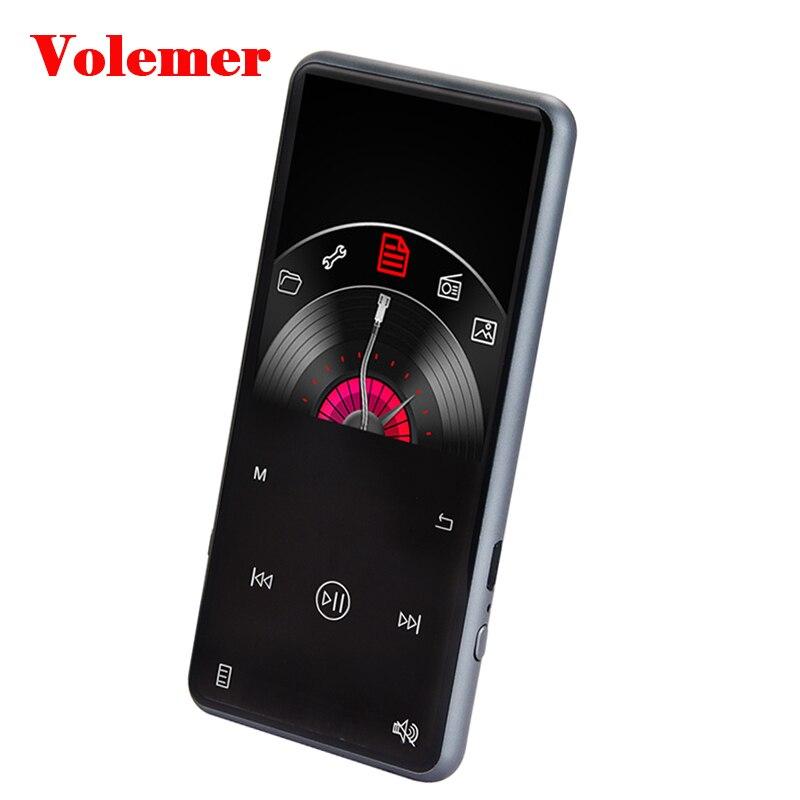 Volemer C16 Hifi lecteur MP3 2.4 pouces métal tactile 8G 16 GB lecteur MP3 baladeur enregistreur sans perte Support Radio FM micro intégré