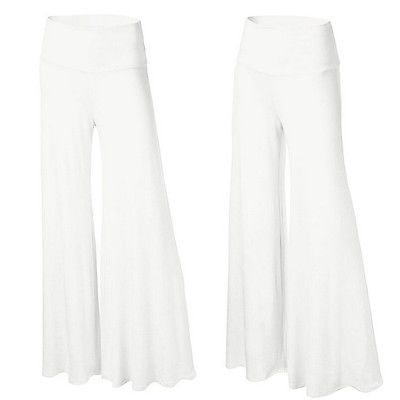 952a44f5b6a8f New Womens Ladies Plus Size Plain Palazzo Wide Leg Flared Trousers Legging  Pants-in Pants   Capris from Women s Clothing   Accessories on  Aliexpress.com ...