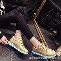 Мода Большой детские дети неон загорается СВЕТОДИОДНЫЙ световой золотой Красочный светящийся shoes с спорт корзина повседневная кроссовки TQ6075