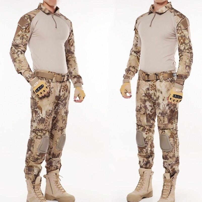 G2 Army Uniform BDU Military Tactical Combat Shirt Pants Suit Men Kryptek Highlander Camouflage Airsoft Sniper