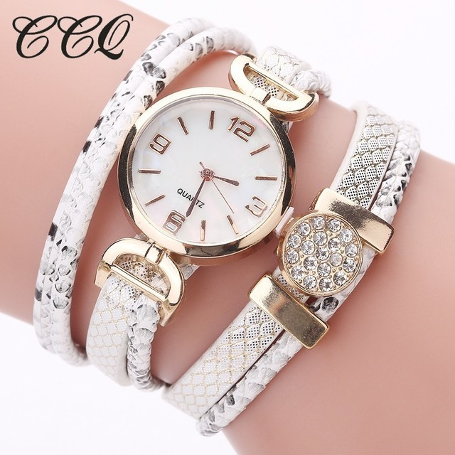 CCQ Brand Watches Casual Women Gold Dress Bracelet Watch Ladies Fashion Wrist Wa