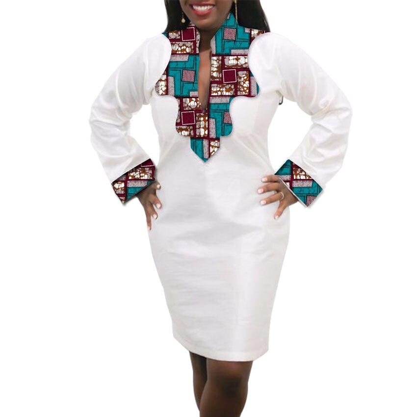 Femmes Robe Africaine Custom Made Dashiki Imprimer Vêtements Cire Et - Vêtements nationaux - Photo 4