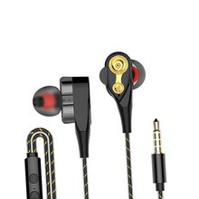 Rovtop Magnetic Wired Stereo in-Ear Earphones Super Bass Dual Drive Headset Earbuds