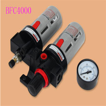 цена на High quality Wholesale gas source processor BFC4000 BFR4000 + BL4000 1/2 Air Filter Regulator Combination Lubricator
