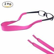 10 шт. очки солнцезащитные очки неопреновые эластичные спортивные оголовье Противоскользящий ремень безопасности шнур держатель для взрослых или детей