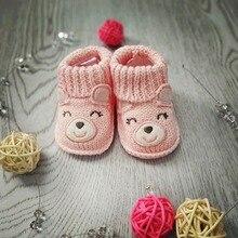 Lion Bear Baby Socks 0-3 Months Cartoon Cute 100% Cotton Newborn infant Shoes For Boys Girls sokken animal for babies gift