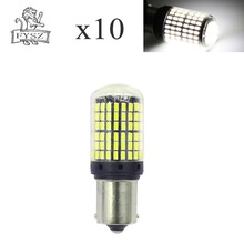 10Pcs New CANBUS Turn Signal light BA15S 1156 4014 144-SMD 6500K constant flow Turn Signal white light DC 12V-24V бра lumion 3458 1w