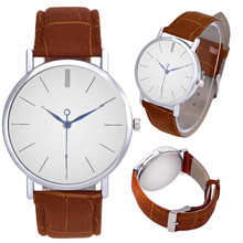 Quartz Watches Men 1 PC Simple Style Business Men Watch Classic Roman Numbers PU Leather Band Analog Wrist Watch Wholesale 40M11