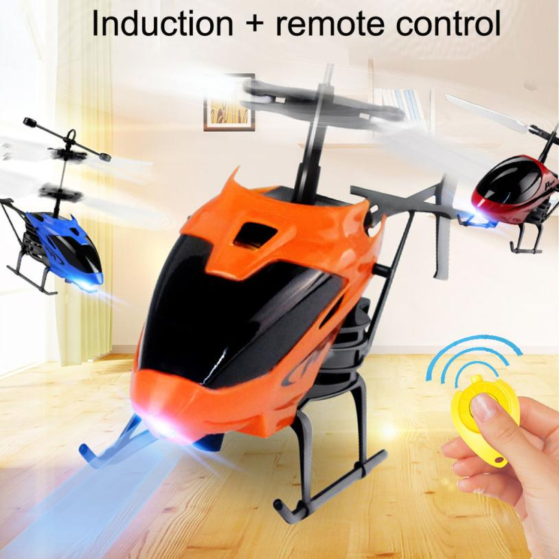 D715 Mini RC Helicopter Infraed Induction Flying Aircraft Flashing Light Toys For Chiildren RC Helicopter Remote Control