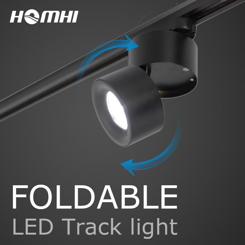 Led-track-beleuchtung scheinwerfer track licht schwarz weiß moderne cob hause lampe 12 watt wand lampe für kleidung schuh shop showroom shop