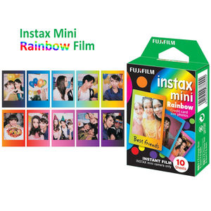 Image 3 - For Fujifilm Instax Mini 8 9 Camera Film Sheets Pack   30 Exposures Instant Mini Photos    Rainbow , Shiny Star , Stripe Frame