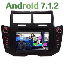 Android 7.1 2GB RAM Quad Core 3G/4G DAB+ Wifi Multimedia Car DVD Player Stereo Radio GPS Screen for TOYOTA YARIS 2005-2010 2011