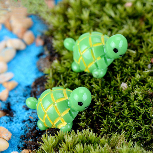 Turtle Figurine Miniature Figures Decoration Fairy Garden Home Decoration  Micro Landscape Animal Statue Resin Craft Toy Gift