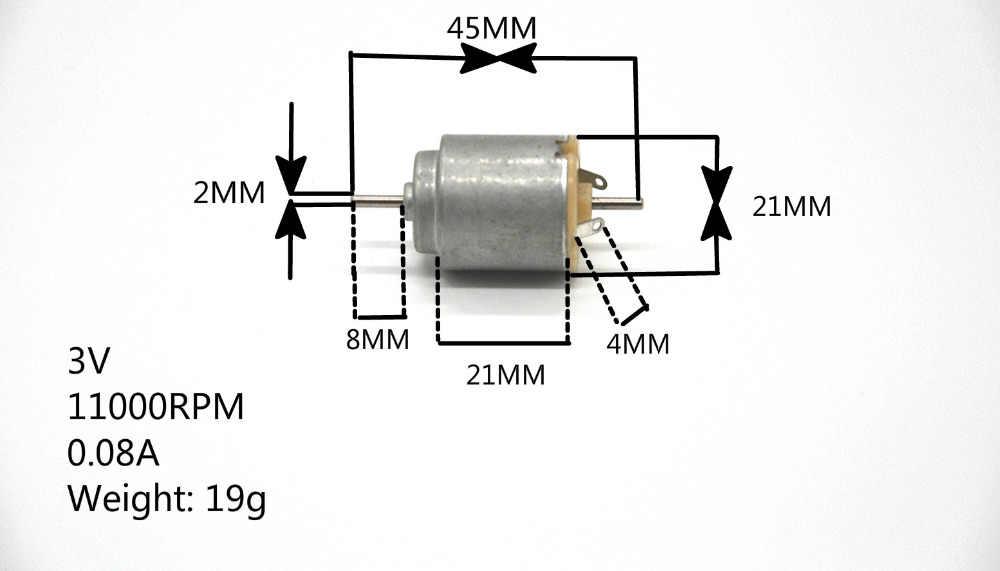 حر shiping 140 العاصمة المحرك 21 * 25mm3v 11000 دورة في الدقيقة 0.08A 2 ملليمتر قطر المحور: المحوري طول تشمل: 10 ملليمتر الرئيس: 38 ملليمتر