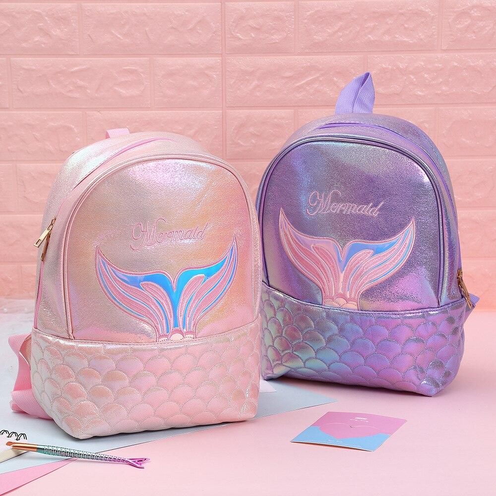 Cute Backpack Girls Kids School Bags For Teenage Girl Backpack Mermaid Sac A Dos Leather Bagpack Travel Schoolbags Mochila Mujer