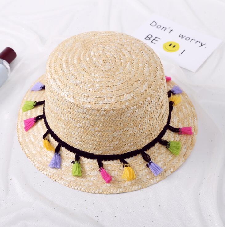 b8da626ee1f35 2018 New Women Pom Poms Hat Summer Sun straw Hat girls Boho Hat Holiday  Beach Bucket Hat with tassels-in Sun Hats from Apparel Accessories on  Aliexpress.com ...