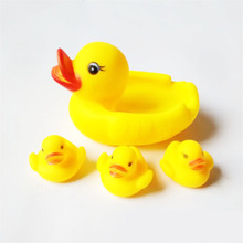 Rubber Duck Swimming Bath Toys Squeeze-sounding Infant Gift Baby Kids Water Toy 4 pcs/set