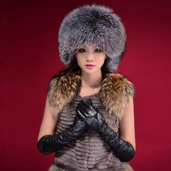 Fashion Warm Winter Tail Beanie Beret Cap Women Faux Fur Ear Earflap Hat women artist beret cap french style autumn