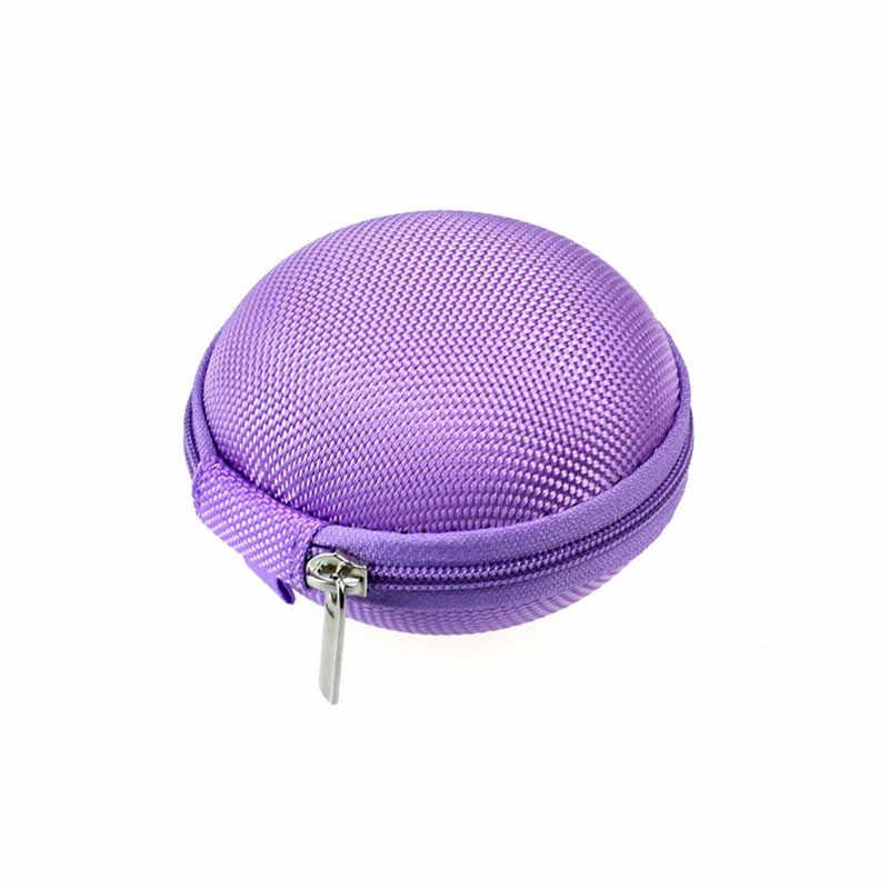 Funda para auriculares con Mini cremallera portátil VOBERRY, bolsa de almacenamiento para tarjetas SD, bolsa para auriculares de alta calidad, bolsa para llevar 1