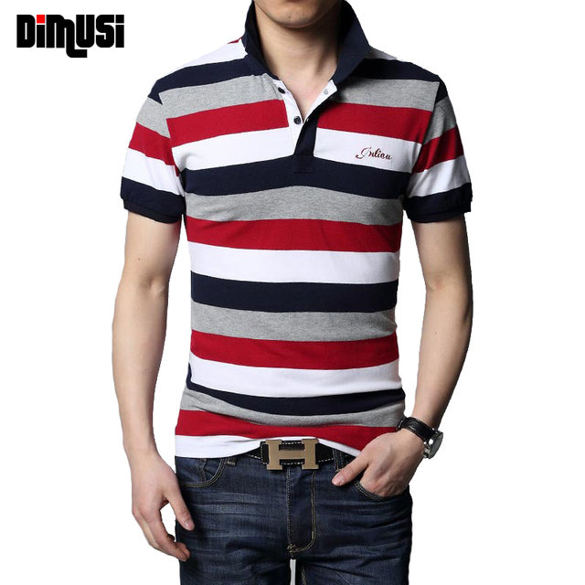 DIMUSI 2017 Brand Men POLO Shirt Cotton Short Sleeve Camisas Polo Stand Collar Male Printed  Polo Shirt Mens Tees 4XL 5XL,YA573