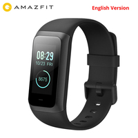 In stock English versio Original Huami Amazfit band 2 cor 2 5ATM Waterproof1.23 inch IPS Touch 2.5D Cor gorilla Screen Smartband