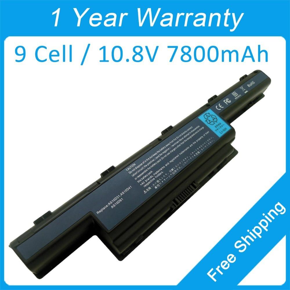 Nieuwe 9-cel laptopbatterij voor Acer Aspire 4560 4552 4625 4738 4739 - Notebook accessoires