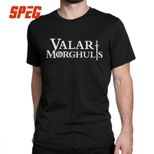 Game Of Thrones T-Shirt Valar Morghulis All Men Must Die Arya Stark T Shirts Man's Tops Vintage Crew Neck Cotton Tees Plus Size цена и фото