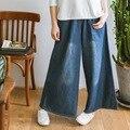 Jeans Mujer Limitada Venta Caliente Bolsillos Sueltos Mediados de Otoño 2016 apretado Lazo de La Cintura Del Todo-Fósforo Y Pantalones Vaqueros Holgados pantalones de Pierna Ancha Mujeres pantalones