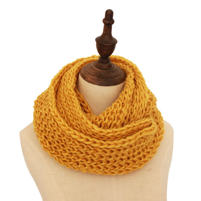 New 2018 Fashion Winter Scarf Knitted Scarves Collar Neck Warmer Crochet Ring Loop Women Scarves W11