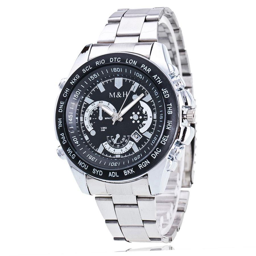 Luxury Brand Full Stainless Steel Analog Display Date Men's Quartz Watch Business Watch Hot Design Sports Wrist  Watches For Men