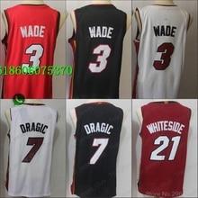 9b16bea34 Free shipping A+++ quality Mens Adult  3 Dwyane Wade 7 Goran Dragic 21  Hassan Whiteside Jersey Miami