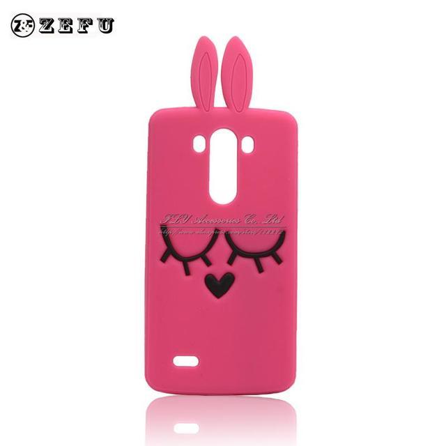 Nueva sonrisa de dibujos animados bugs bunny rabbit case para lg optimus g3 d850 d855 bolsas teléfono de la tapa de silicona