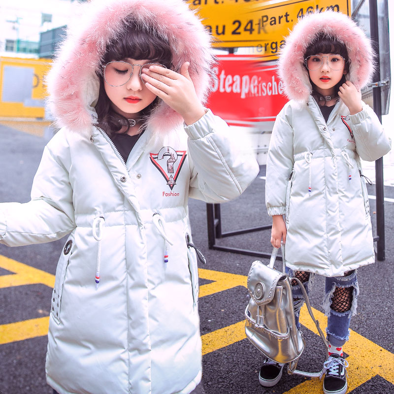 Girls Winter White Duck Down Coat Children Jackets Baby Winter Coat Kids Warm Outerwear Hooded Coat Snowsuit Overcoat Clothes mioigee 2017 children winter coat baby white duck down jackets real fur hooded warm winter kids clothes girls outerwear jackets