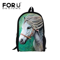 FORUDESIGNS Crazy Horse School Bags For Kids Elementary Canvas Schoolbag Children Backpack Teenager Girls Bookbags School