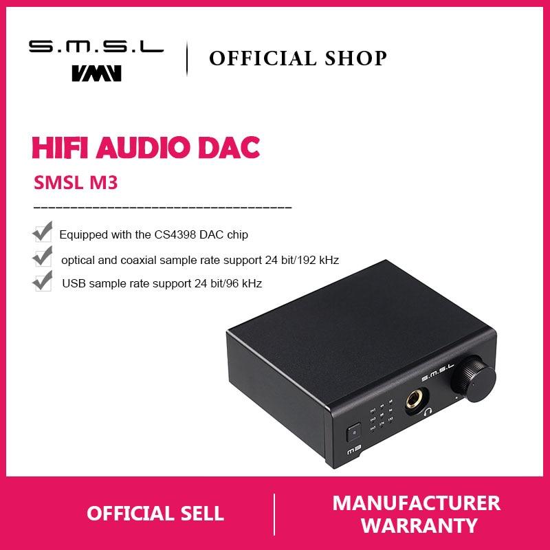 Unterhaltungselektronik Trendmarkierung Smsl M3 Multi-funktion Dac Alle-in-one Kopfhörer Audio Decoder Verstärker Angetrieben Durch Usb Mit Usb Optische Fiber Coaxial Eingang