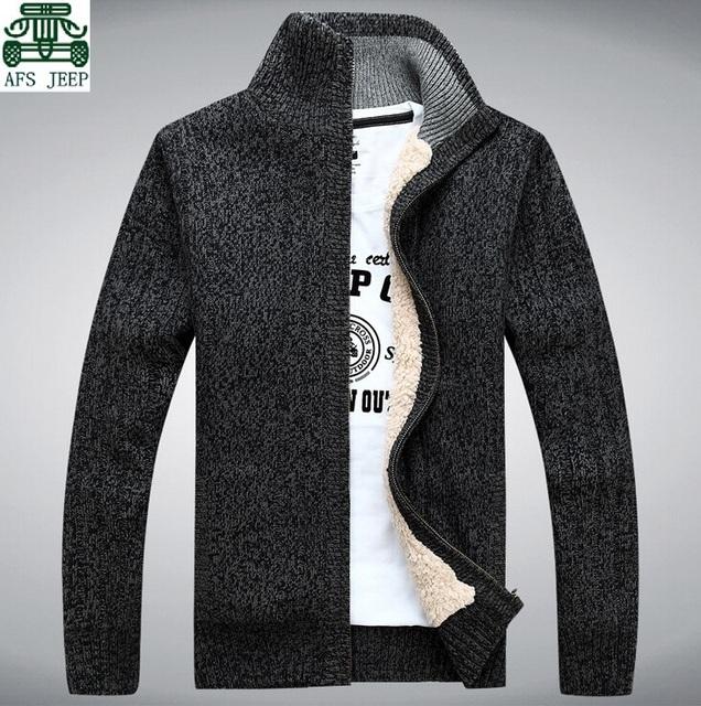 Cashmere Inner 2014 Marca Camisola Dos Homens, Afs jeep Outwears Lã Grossa Cardigan Moda Masculina, Marca Ocasional dos homens Outwear malha
