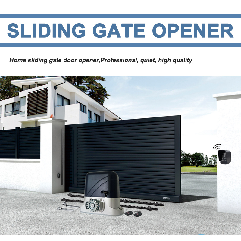 AC220V/110V gearwheel motor engine Driven Sliding Gate Opener with 4m Nylon racks for Gates up to 1400~2800 Pounds OptionalAC220V/110V gearwheel motor engine Driven Sliding Gate Opener with 4m Nylon racks for Gates up to 1400~2800 Pounds Optional