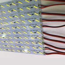 50pcs*100cm High bright Korea led lighting DC 12V 72 SMD 21W/M 8520 LED Hard Rigid Strip Bar Light with 2 year warranty