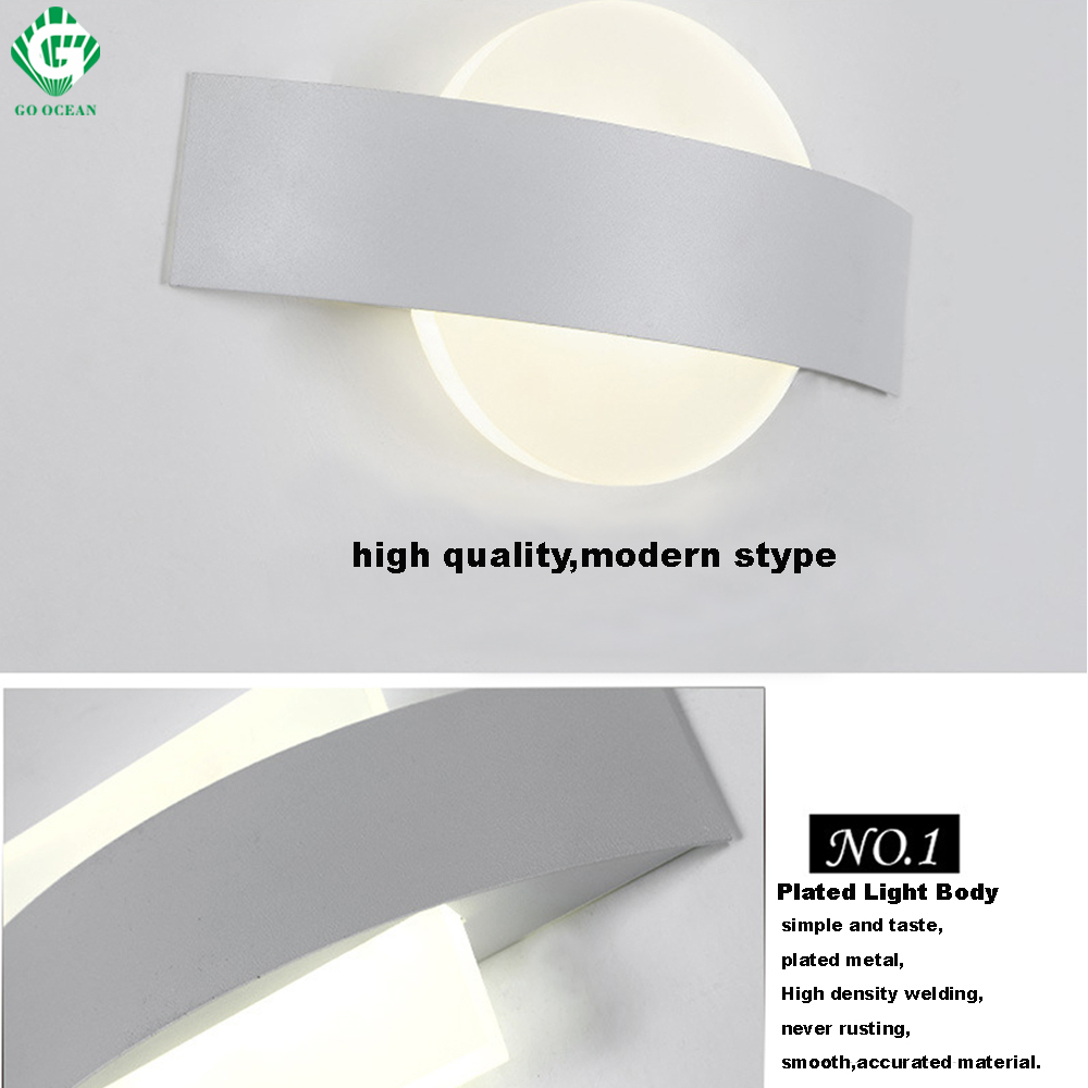 Wall Light Sconce Modern LED Wall Lamps Hallway Home Bedroom Bedside ...