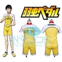Yowamushi Pedal Sohoku Cycling Jersey Short Sleeve Cycling Bib Shorts Clothing Gloves Anime Cosplay Costume