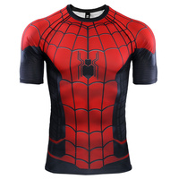 New Spider Man Far From Home Slim T shirt Spiderman Quick Drying Short Sleeve T Shirts Mens Spring Autumn Casual Clothes Top Tee