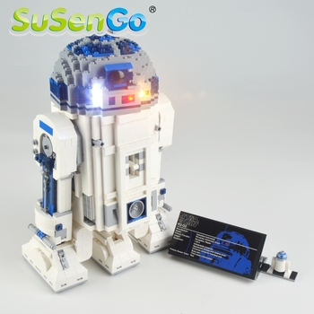 SuSenGo Led Light Up Kit For 10225 Star War R2-D2 Toys Lighting Set Compatible With 05043 35009 NO Building Blocks Model image