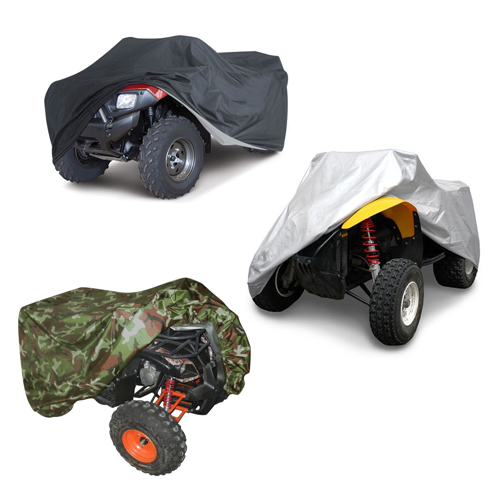 Quad Bike ATV Cover Universal 190T Waterproof Motorcycle Vehicle Scooter Kart Motorbike Covers M L XL XXL XXXL Camouflage Black xl to xxxl fleece solid black