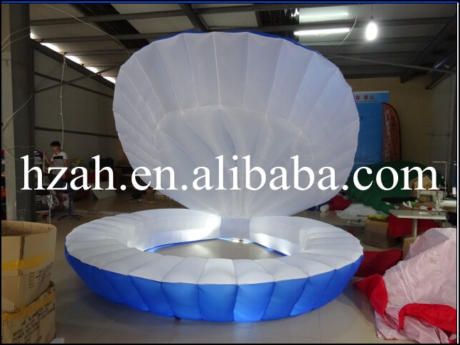 Wedding Decorative Seashell Lighted Inflatable Shell environmentally friendly pvc inflatable shell water floating row of a variety of swimming pearl shell swimming ring