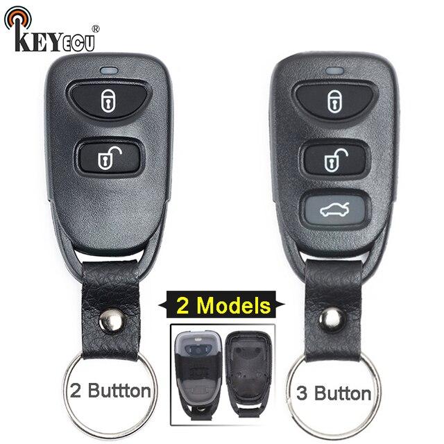 KEYECU עבור יונדאי טוסון אקסנט סנטה Fe 2/3 כפתור החלפת מרחוק רכב מפתח Shell Case כיסוי Fob
